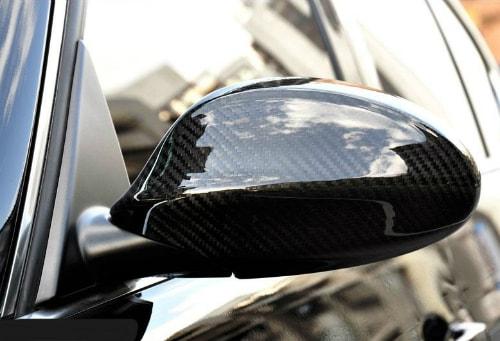 Rearview Mirror Cover BMW E90 Non LCI (05-08) Standart Model Carbon Fiber (Example Already Installed)