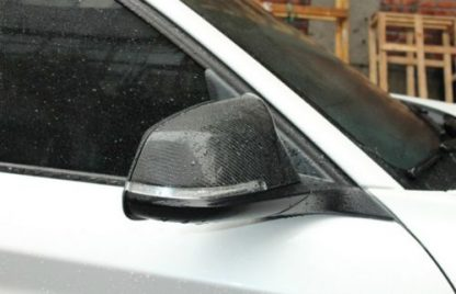 Carbon Fiber Glass Side Mirror For BMW (Example Already Installed)