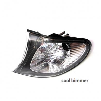 02-05 BMW E46 Corner Lights Crystal Clear Lens Euro Style Left Side