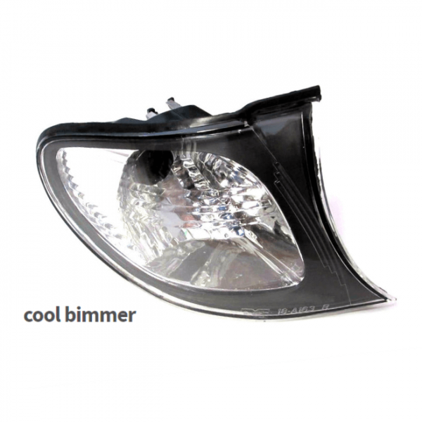 02-05 BMW E46 Corner Lights Crystal Clear Lens Euro Style Right Side