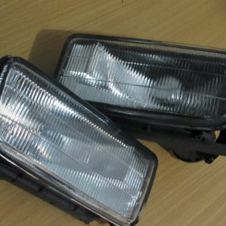 BMW E36 3-Series (92-98) Replacement Front Bumper Fluted Lens Fog Lights Lamps (pair)