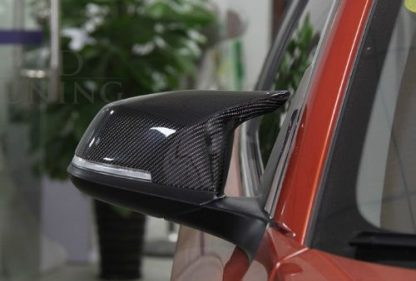 F10 Replacement Mirror Cover Carbon Fiber Styling Car For 2013 + BMW 5 6 7 Series F11 F12 F13 F01 (Example Already Installed)