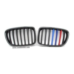front-grille-m-color-glossy-black-single-slats-for-bmw-x1-e84