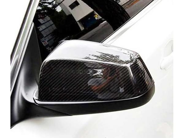 E60 2008-2010 Carbon Fiber Replacement Side Mirror Cover (Example Already Installed)