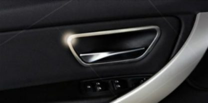 Door Handle Frame Cover Strim Satin Chrome F30 F34 (2013-2014) (Example Already Installed)