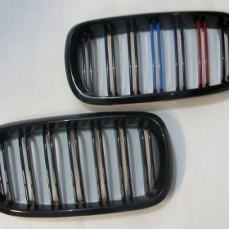 Grill BMW X5 F15, X6 F16 Double Slats Glossy Black M Tech Color