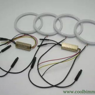 Angel Eyes Ring Cotton LED BMW E30, E32, E34 Model 2 Color White And Yellow Amber