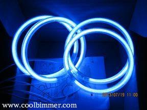 Blue color example when lit