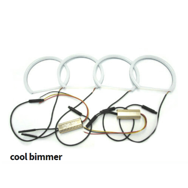 Angel Eyes Ring Cotton LED BMW E46 Pre Facelift Model 2 Colors White And Yellow