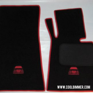 BMW Carpet E30 Super Velvet Material Black Red Line