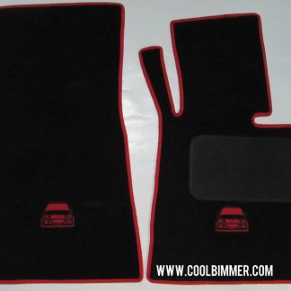 Carpet BMW E30 Premium Velvet Material Black Red Line