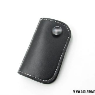 Key Case Leather Synthetic White Sewings Mtech Black Size 8.8x5cm