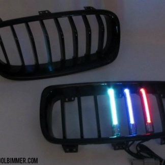 Grill LED M Colour BMW F30, F35 Glossy Black