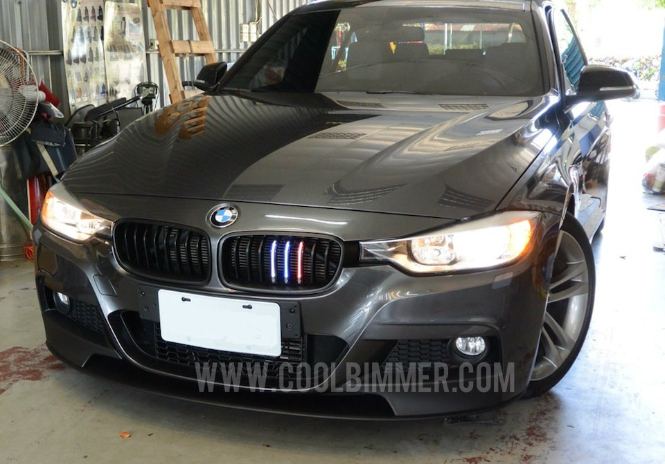 Grill Led M Colour Bmw F30 F35 Glossy Black Cool Bimmer
