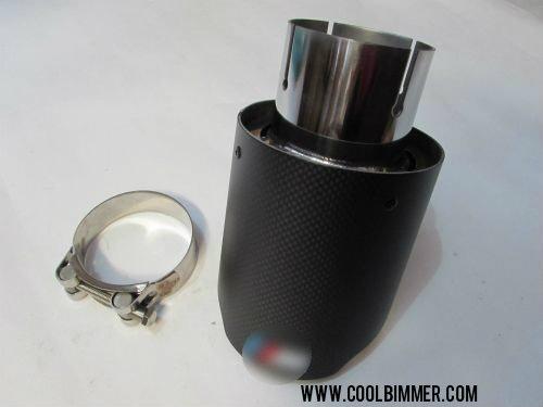 Muffler M BMW Stainless Steel Carbon Fiber Matte