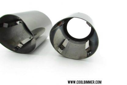 Muffler Tip BMW X5, F10, F11, F12, F13, F18 Stainless Steel Materials Size 9.5x7.5cm