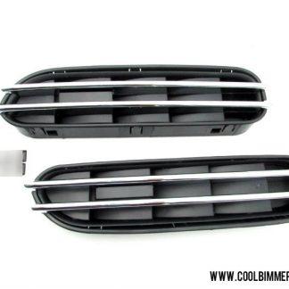 BMW E60 Grill Fender Black Chrome