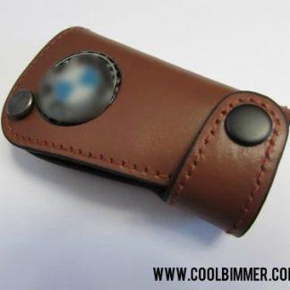 Key Case BMW Leather Dark Brown Size 7.5x4.2cm