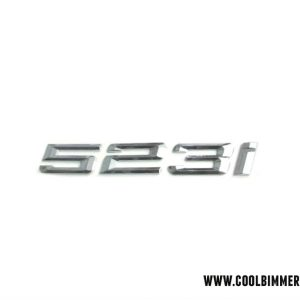 BMW 523i Emblem Chrome
