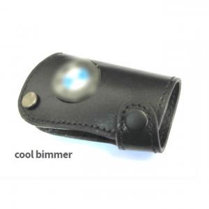Key Case Leather BMW Black Size 7.5x4.2cm