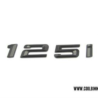 BMW Emblem 125i Black
