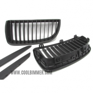Grill BMW E90 (05-08) Pre LCI Matte Black Single Slats