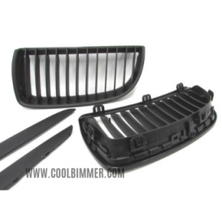 Grill BMW E90 (05-08) Pre LCI Matte Black Single Slats